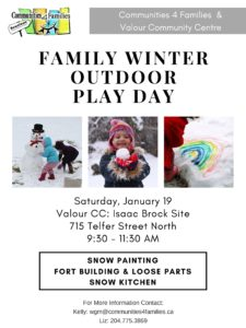 Family Outdoor Play Day @ Valour Community Centre, Isaac Brock Site | Winnipeg | Manitoba | Canada