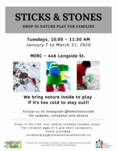 Sticks & Stones - Outdoor Play @ MERC | Winnipeg | Manitoba | Canada