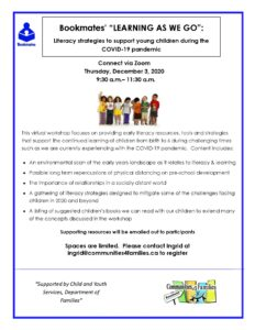 """Bookmates' """"LEARNING AS WE GO"""": Literacy strategies to support young children during the COVID-19 pandemic"""